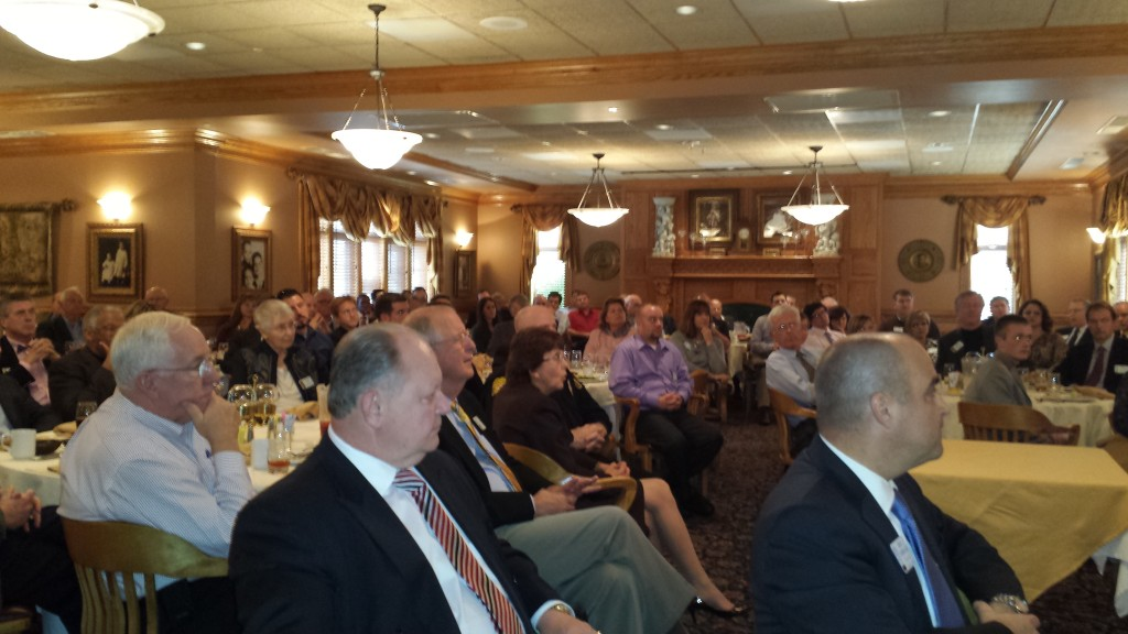 Frederick Club members listen to newly reelected Mayor Randy McClement