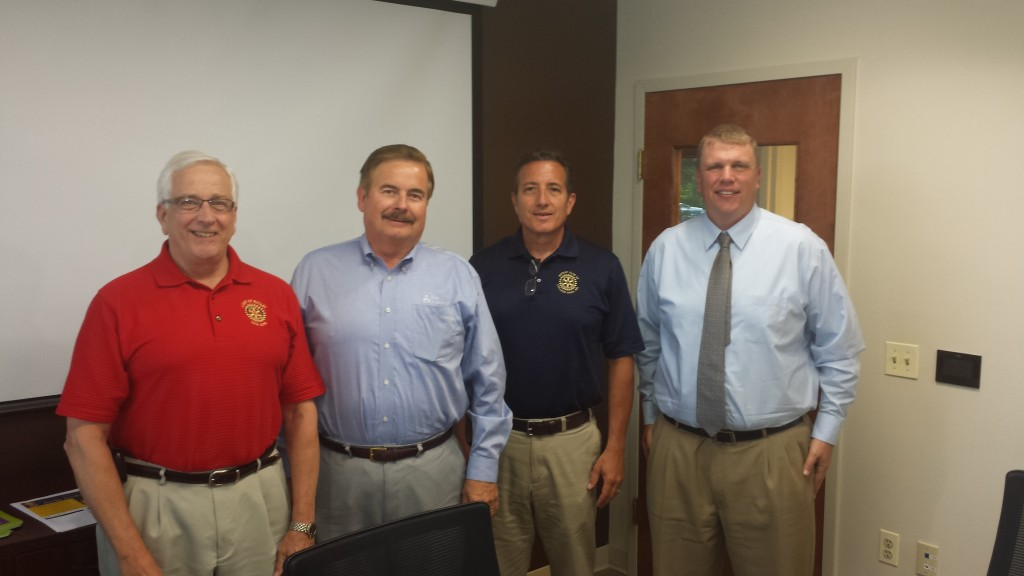 L-R: DG, Bill Fine, and the new AG's Charlie McCabe, Steve Ness, and Matt May