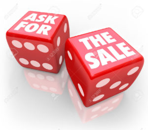 32144398-ask-for-the-sale-words-on-two-red-dice-to-illustrate-taking-a-chance-to-press-a-customer-to-close-a-stock-photo